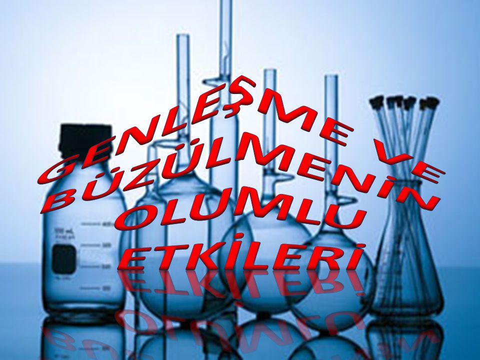 * Sıcaklığı ölçmek için kullandığımız termometreler, sıvıların genleşmesinden yararlanılarak yapılmıştır.