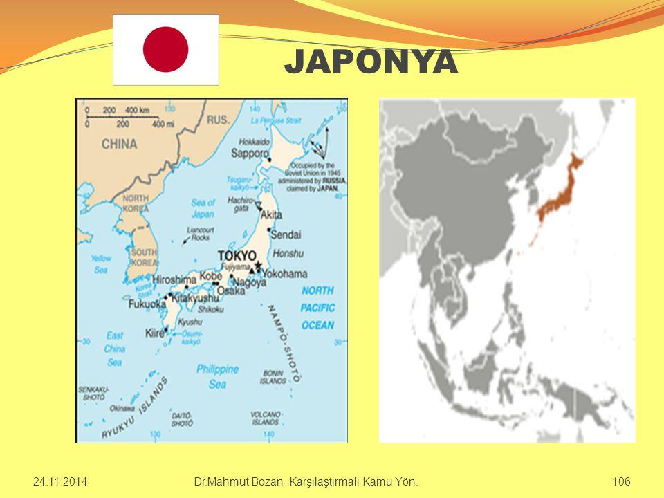 JAPONYA 24.11.2014 Dr.Mahmut Bozan- Karşılaştırmalı Kamu Yön. 106