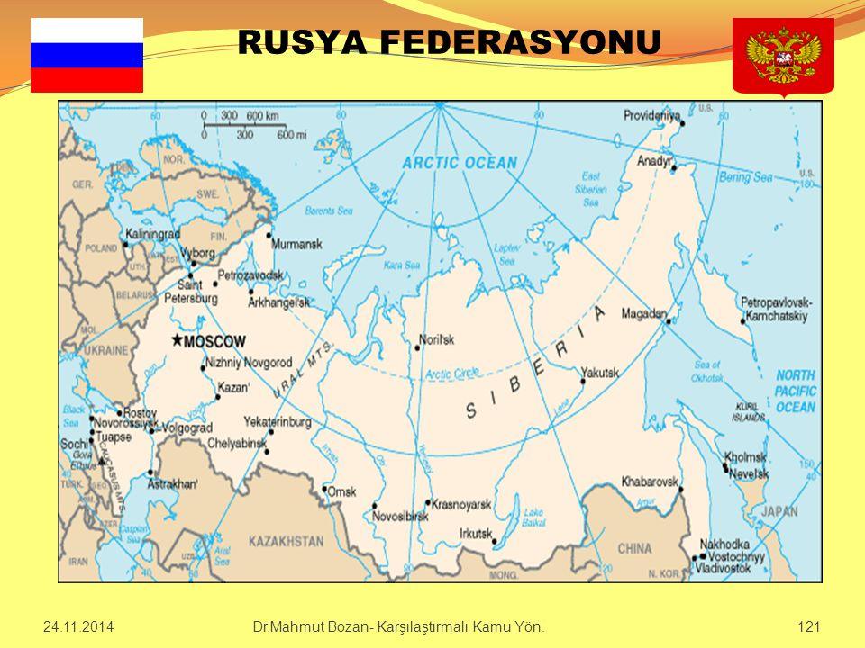 RUSYA FEDERASYONU 24.11.2014121 Dr.Mahmut Bozan- Karşılaştırmalı Kamu Yön.