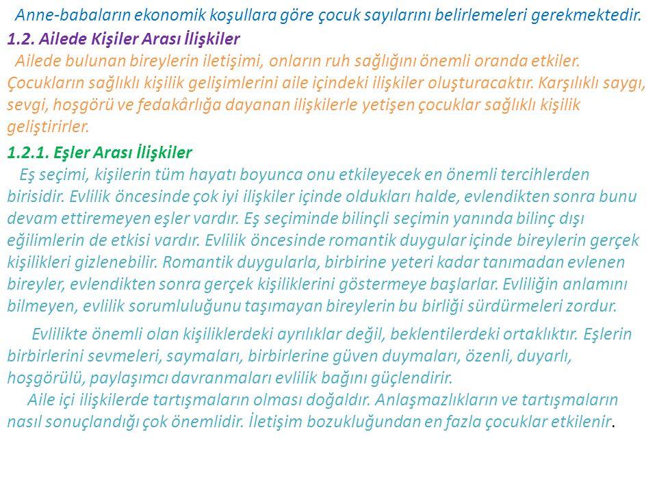 KAYNAKÇA BİLEN, Mürüvvet.Sağlıklı insan ilişkileri (Ailede, Kurumlarda, Toplumda) Ankara.