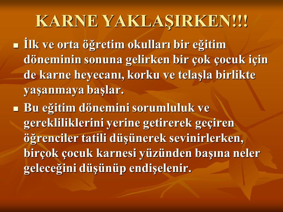 KARNE YAKLAŞIRKEN!!.
