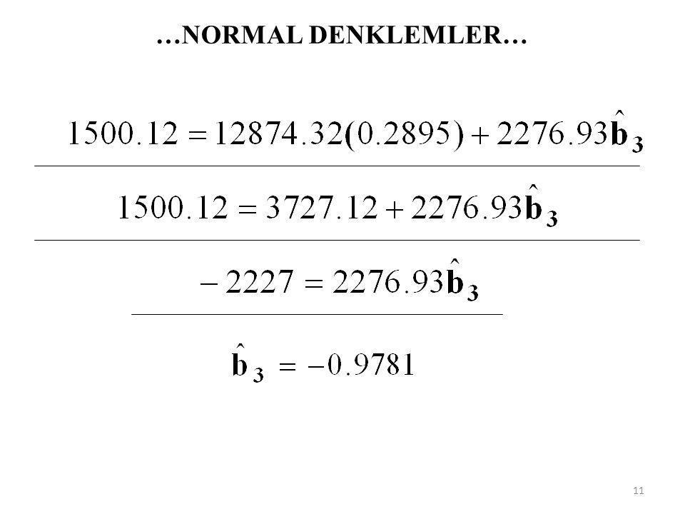 …NORMAL DENKLEMLER… -5.26 / 10