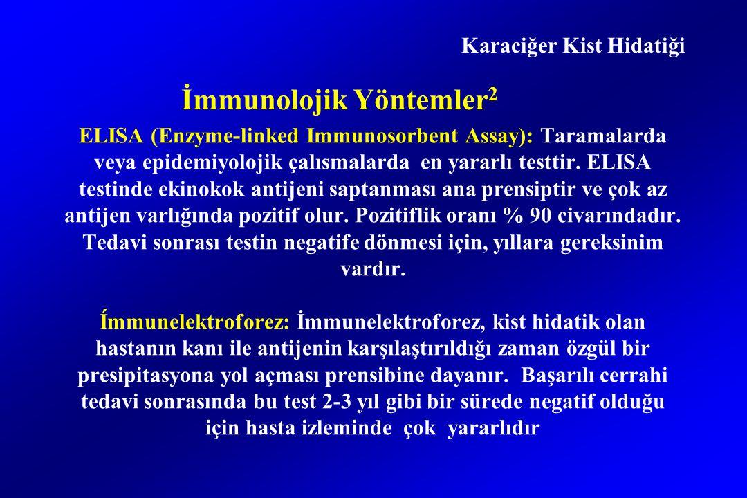 ELISA (Enzyme-linked Immunosorbent Assay): Taramalarda veya epidemiyolojik çalısmalarda en yararlı testtir.