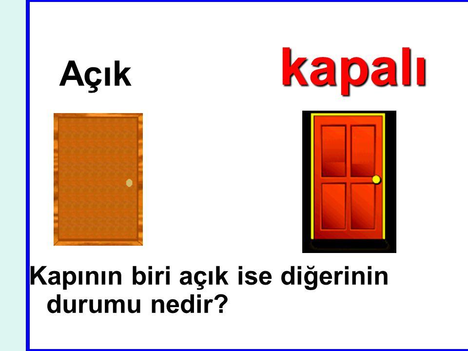 Açık kapalı Kapının biri açık ise diğerinin durumu nedir?