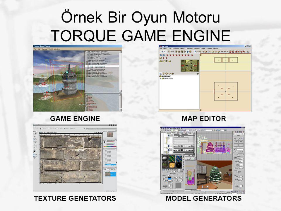 Örnek Bir Oyun Motoru TORQUE GAME ENGINE GAME ENGINEMAP EDITOR TEXTURE GENETATORSMODEL GENERATORS