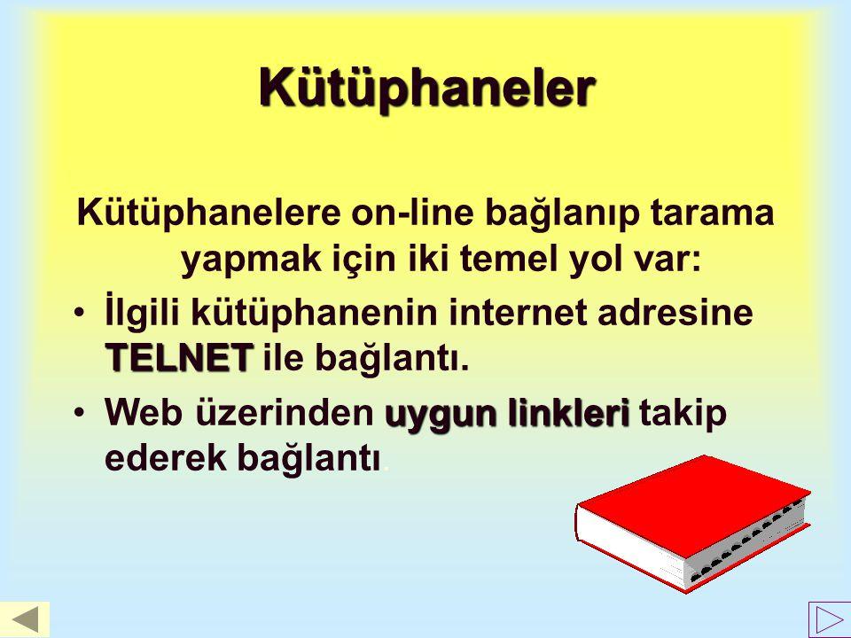 Diğer Servisler FTPFTP : bir başka bilgisayardan dosya alma protokolü. ArchieArchie : FTP 'de yol sorma. Bir dosyanın hangi merkezde olduğunu bulmak !