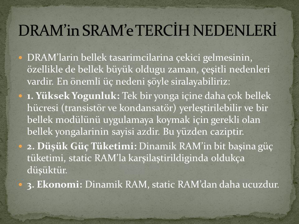 Sonuç olarak; SRAM çok pahalı, çok hızlı bir RAM çeşididir.