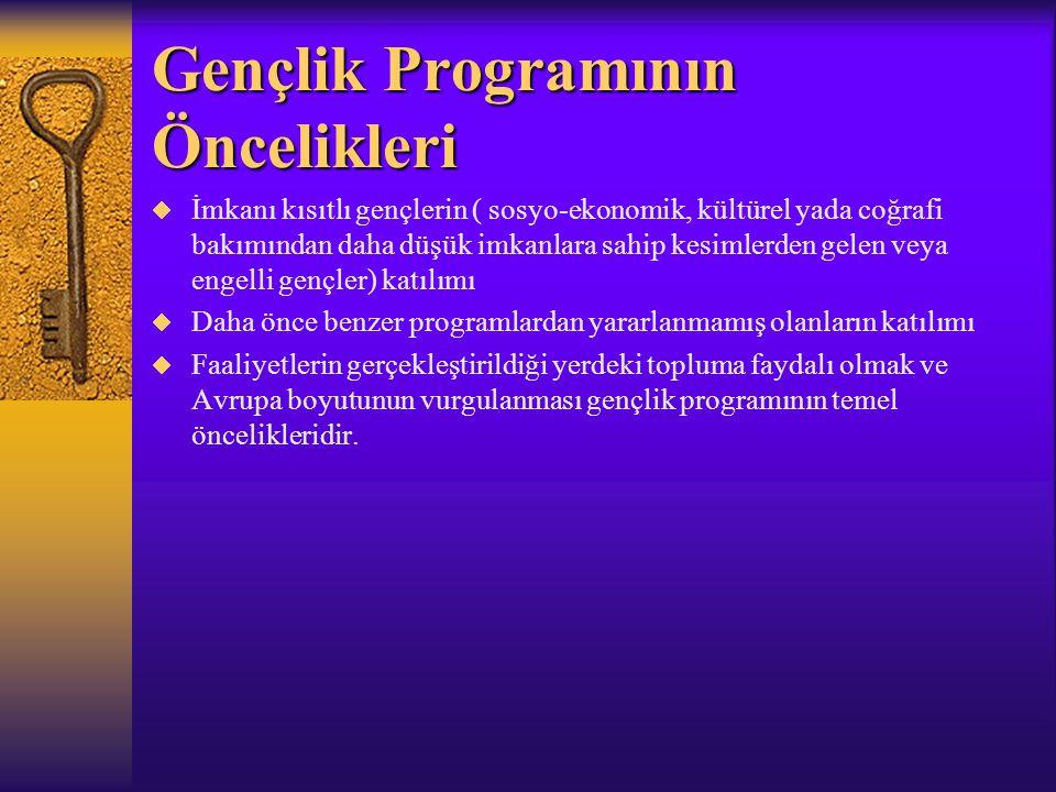 Gençlik Programı Ne Tür Alt programlardan oluşmaktadır.