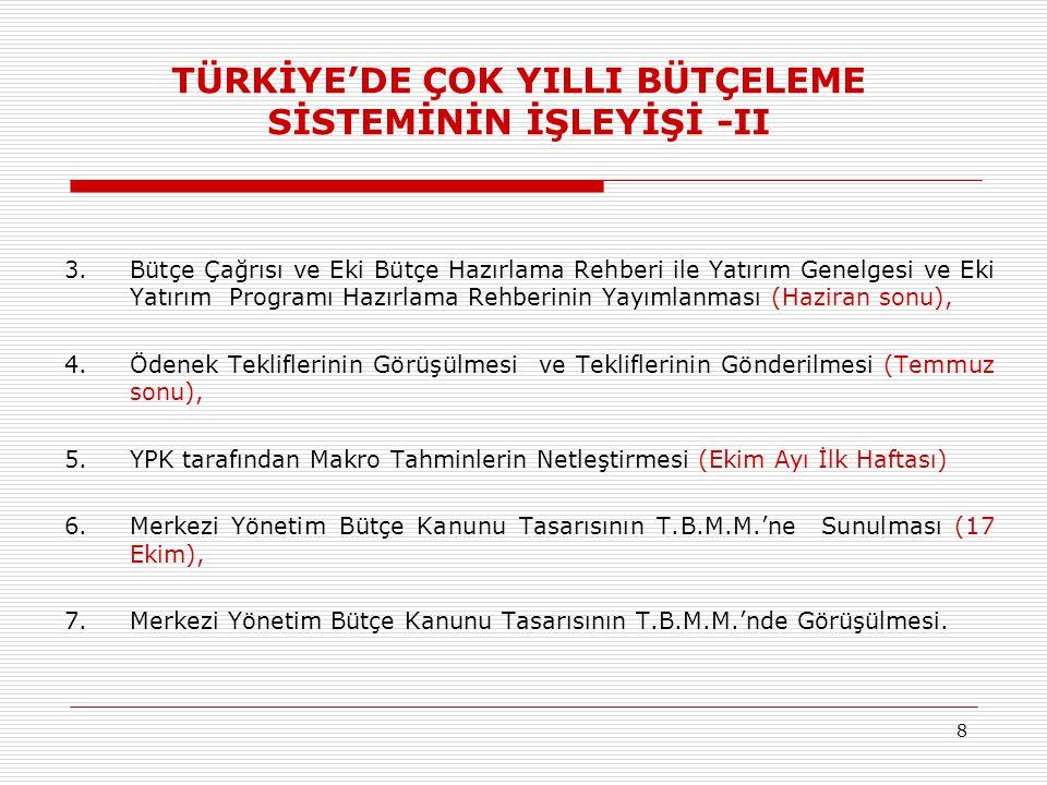 99 UYGULAMADA KARŞILAŞILAN BAZI ZORLUKLAR  Gelişmekte olan bir ülke olarak Türkiye'ye ilişkin makroekonomik göstergelerin hızlı bir şekilde değişmesi,  Birden fazla orta vadeli belgenin varlığı,  Kamu idarelerinde orta vadeli planlama altyapısının yetersizliği,  Harcamacı bakanlık ve kuruluşlara bütçe hazırlığı için verilen zamanın yetersizliği,  Ödenek tavanlarının bağlayıcı olmaması.