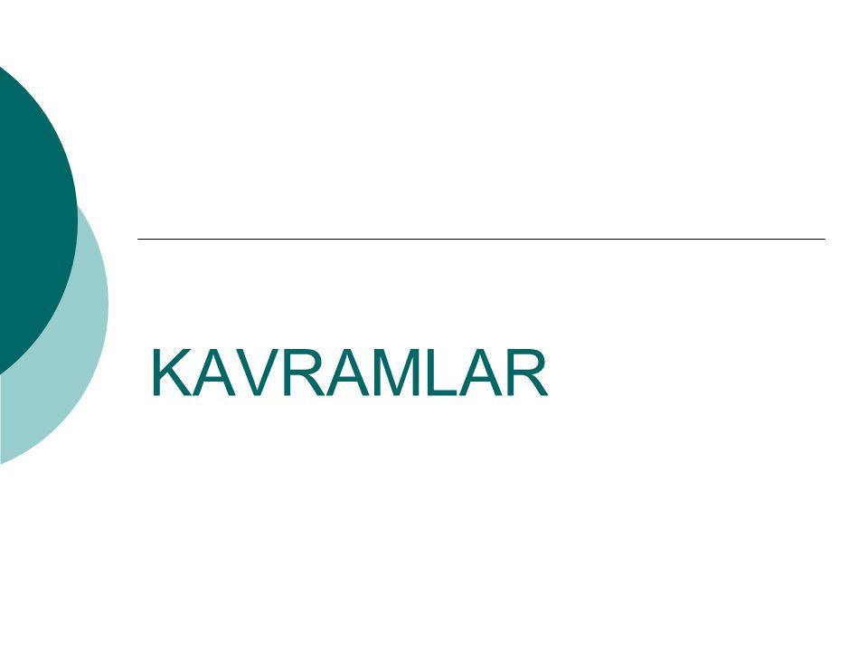 KAVRAMLAR
