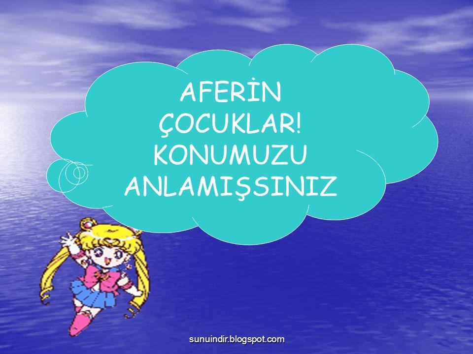 sunuindir.blogspot.com AFERİN ÇOCUKLAR! KONUMUZU ANLAMIŞSINIZ