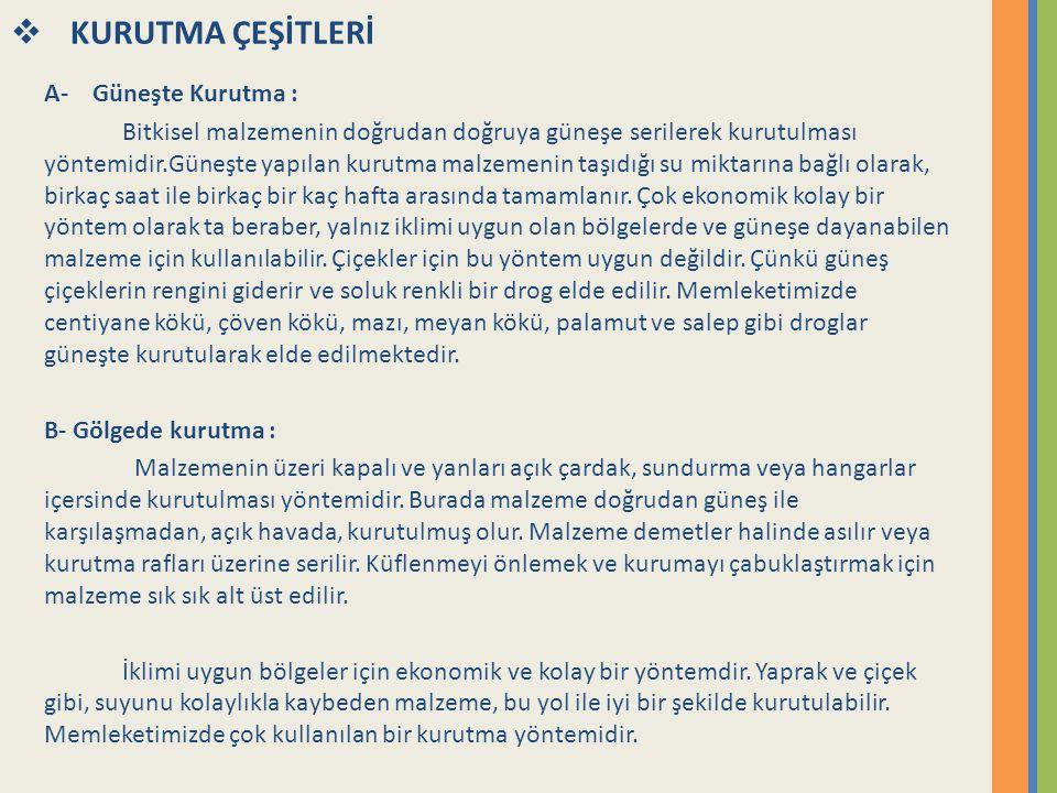 Kaynaklar 1- Tanrı nın Eczanesinden Sağlık , Maria Treben 2-Türkiye de Bitkilerle Tedavi, Prof.Dr.