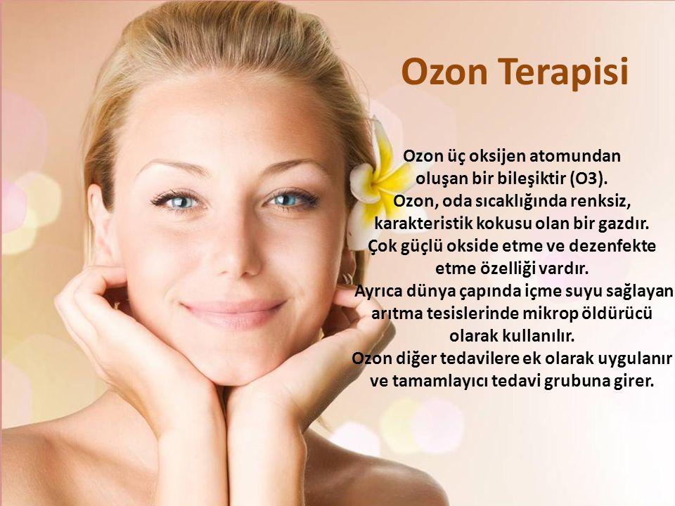 Ozon Terapisi Ozon üç oksijen atomundan oluşan bir bileşiktir (O3).