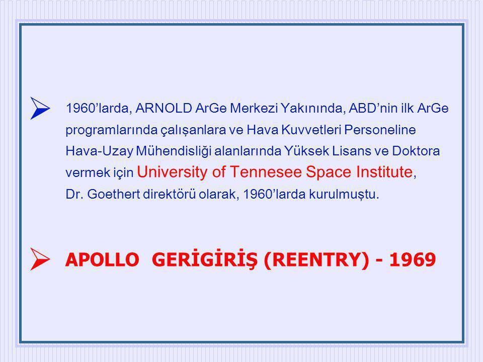 1960'larda, ARNOLD ArGe Merkezi Yakınında, ABD'nin ilk ArGe programlarında çalışanlara ve Hava Kuvvetleri Personeline Hava-Uzay Mühendisliği alanların