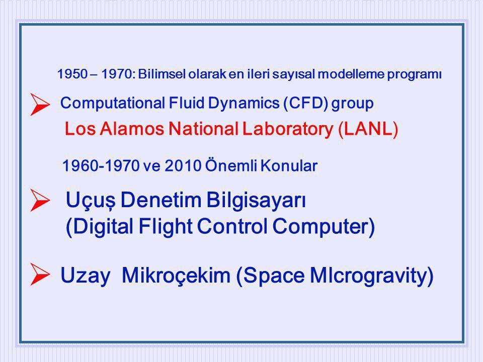 1950 – 1970: Bilimsel olarak en ileri sayısal modelleme programı Computational Fluid Dynamics (CFD) group Los Alamos National Laboratory (LANL) 1960-1