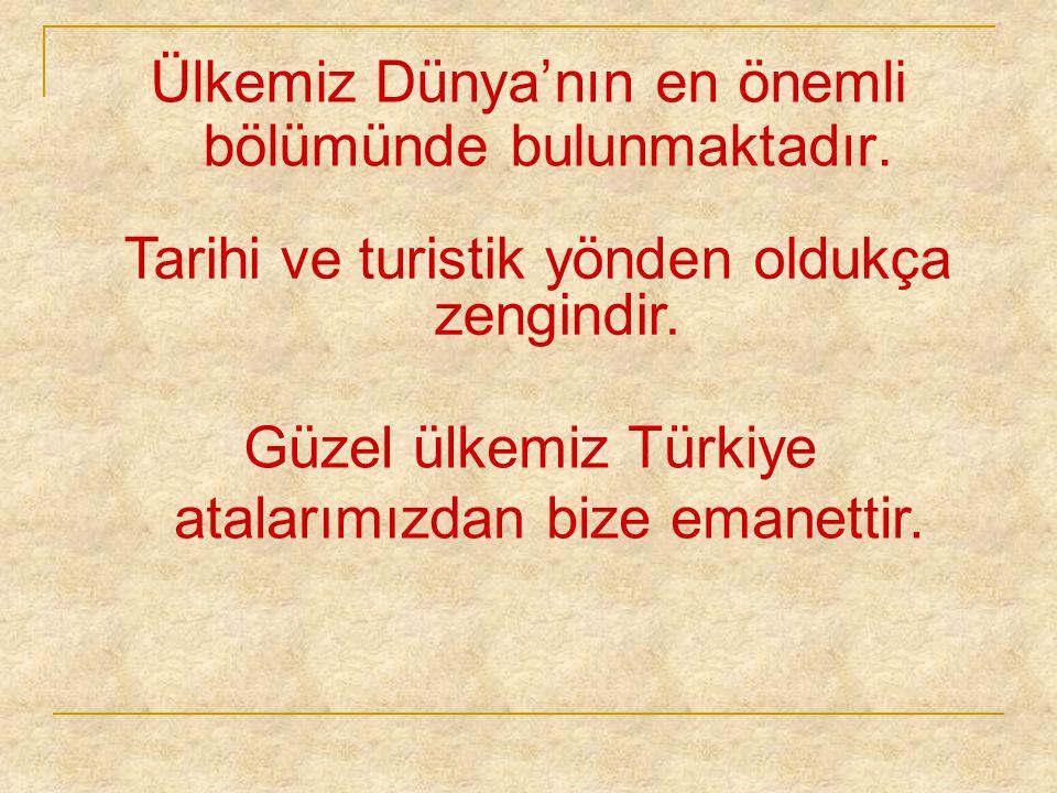 Atatürk'ün izinden gidelim.Kurduğu Cumhuriyete sahip çıkalım Ülkemi çok seviyorum.