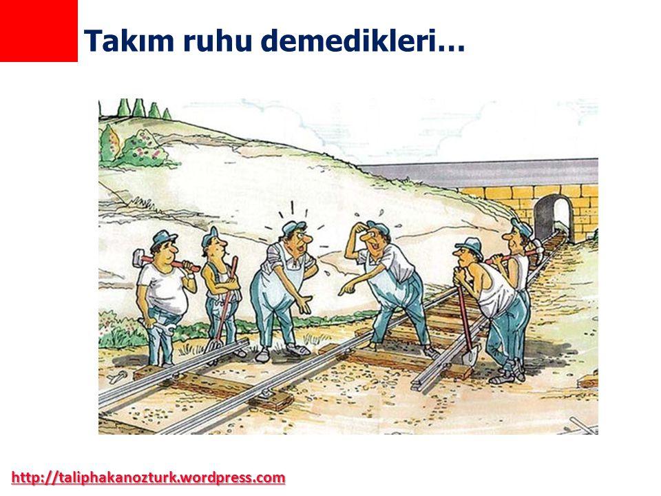 http://taliphakanozturk.wordpress.com Takım ruhu demedikleri…