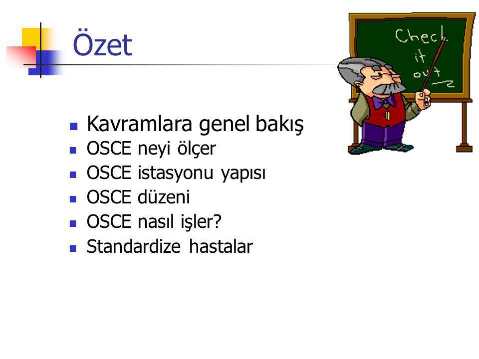 OSCE neyi ölçer OSCE istasyonu yapısı OSCE düzeni OSCE nasıl işler.