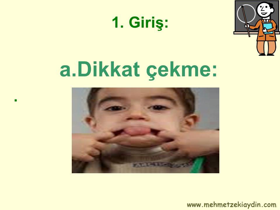 1. Giriş: a.Dikkat çekme:. www.mehmetzekiaydin.com