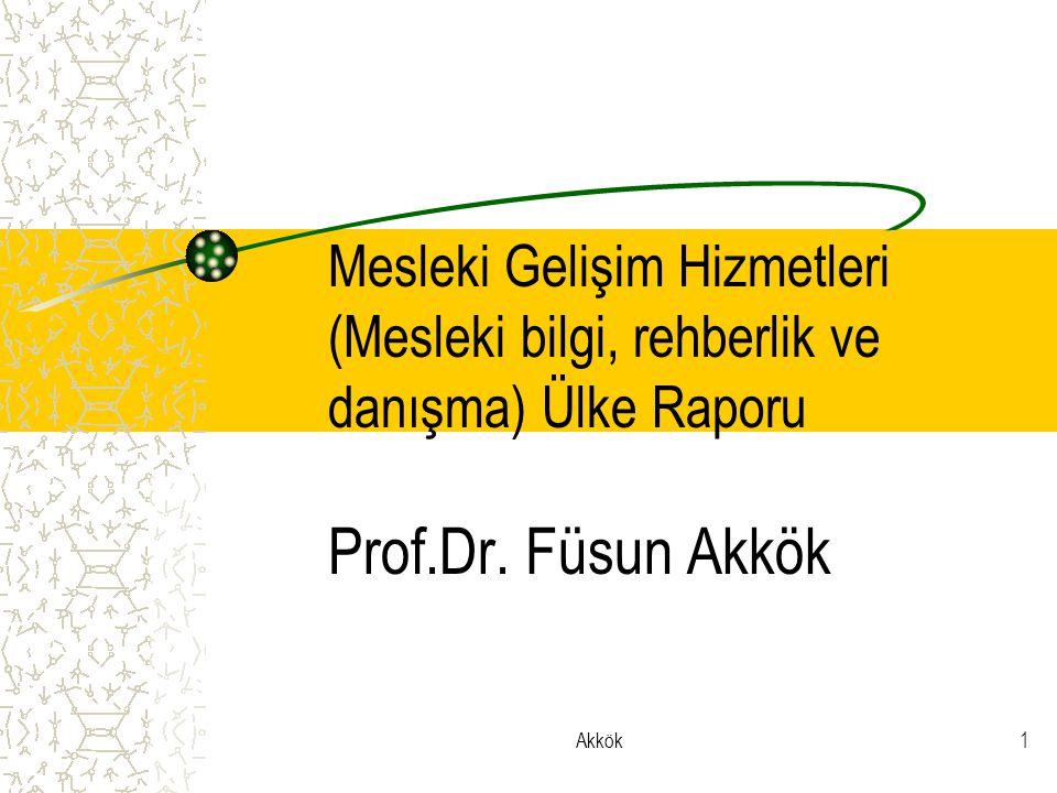 Akkök1 Mesleki Gelişim Hizmetleri (Mesleki bilgi, rehberlik ve danışma) Ülke Raporu Prof.Dr.