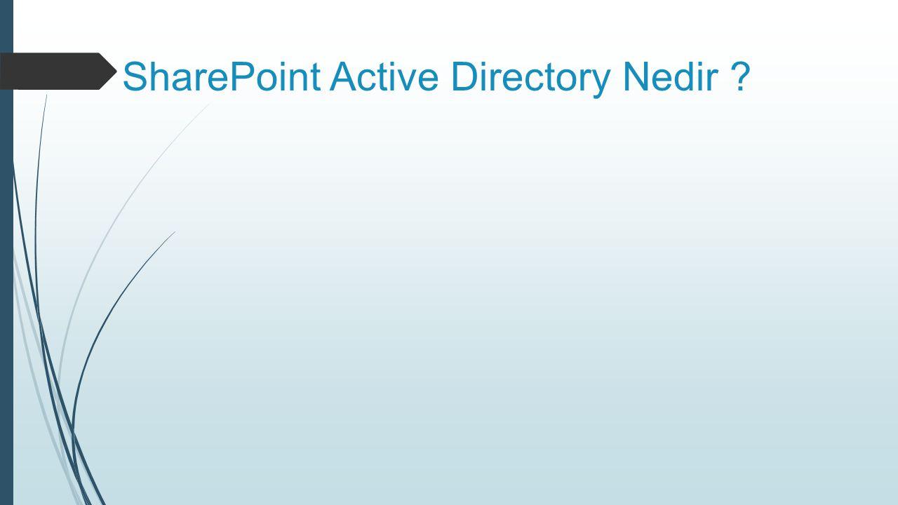 SharePoint Active Directory Nedir ?