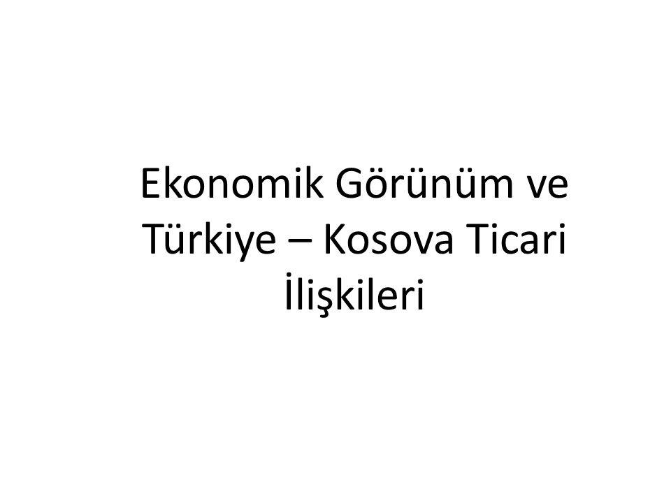 Ekonomik Görünüm ve Türkiye – Kosova Ticari İlişkileri