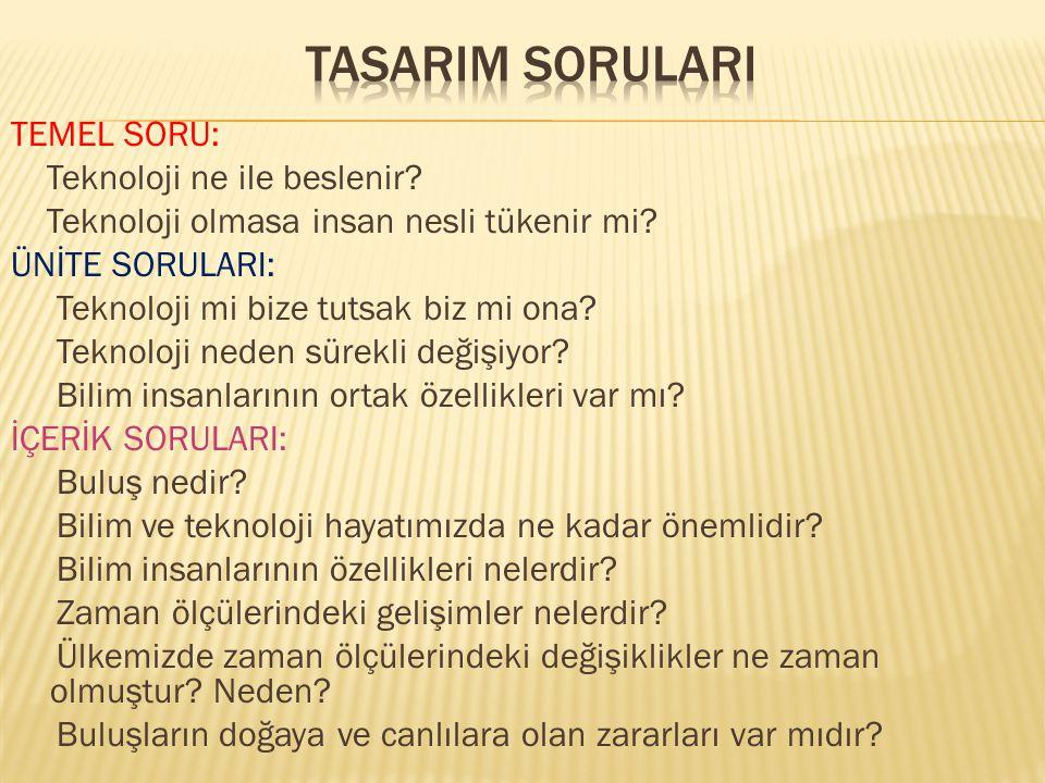  Buluşlar ve teknolojik gelişmeler  Teknolojik gelişmelerin toplum hayatımızdaki yeri  Bilim insanlarının ortak özellikleri  Atatürk'ün teknolojiye verdiği önem  Teknolojik ürünlerin olumlu ve olumsuz yönleri