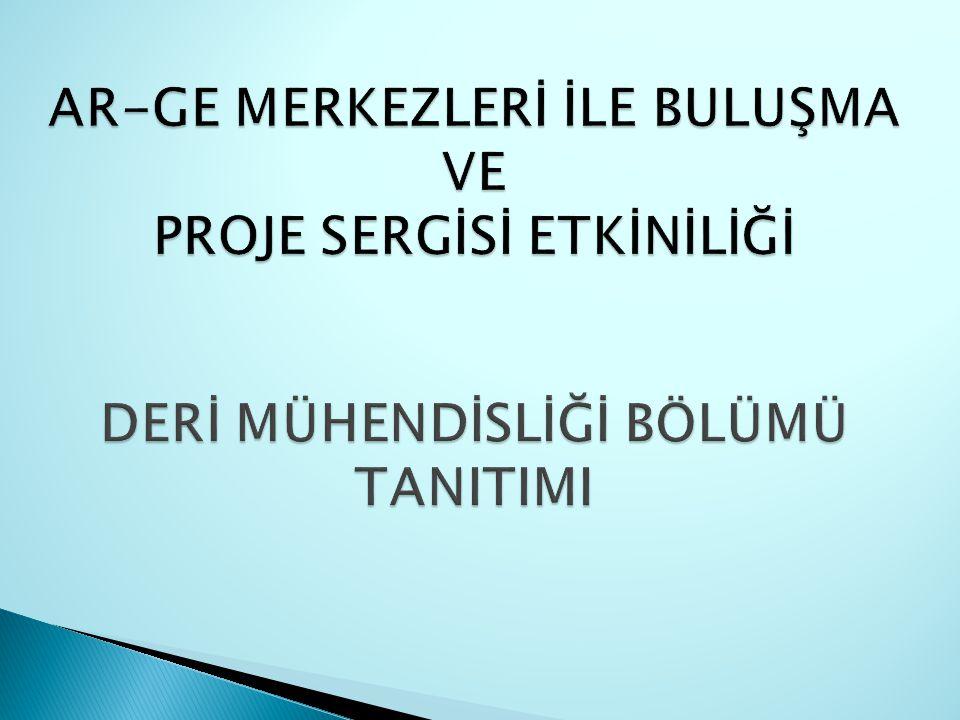 Çevre ve Kalite Açısından Türk Deri Ürünlerinin Uluslar arası İhracatta Rekabet Edebilme Olanakları Üzerinde Mukayeseli Araştırmalar Proje No: 95 DPT 001 Üniversitemizin ilk DPT projesi