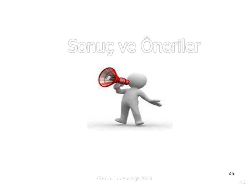 45 Özdemir ve Esatoğlu 2014 45