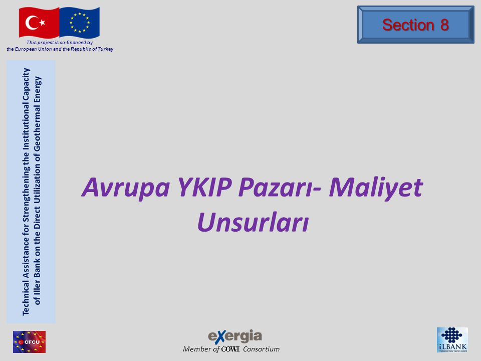 Member of Consortium This project is co-financed by the European Union and the Republic of Turkey Avrupa YKIP Pazarı- Maliyet Unsurları Section 8