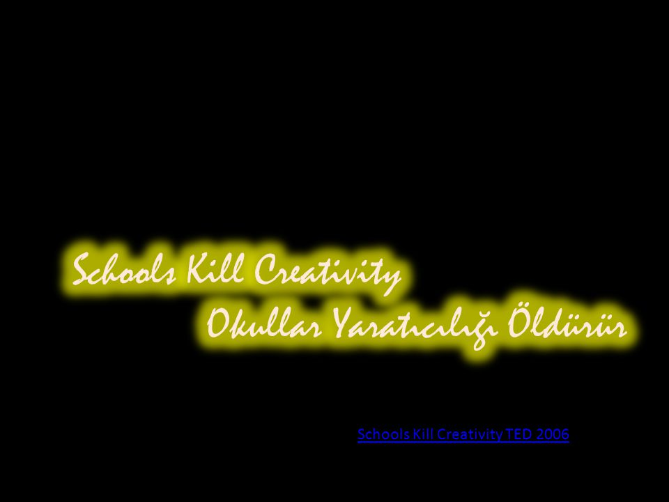 Schools Kill Creativity TED 2006