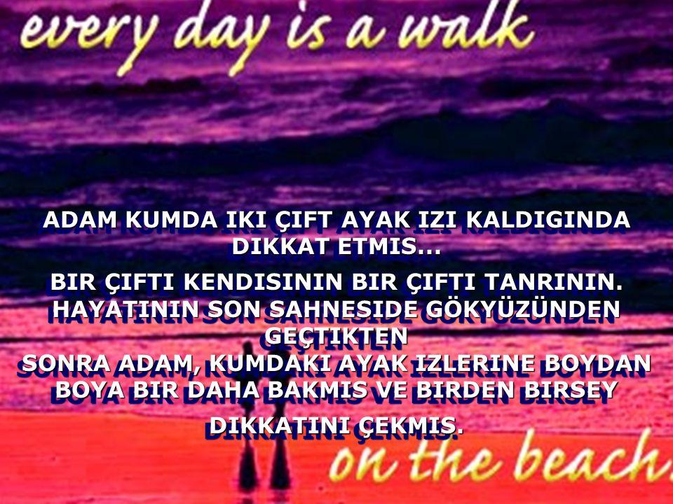 Upuzun Bir Kumsal Boyunca Yaninda Tanri Ile Yürüyormus Onlar