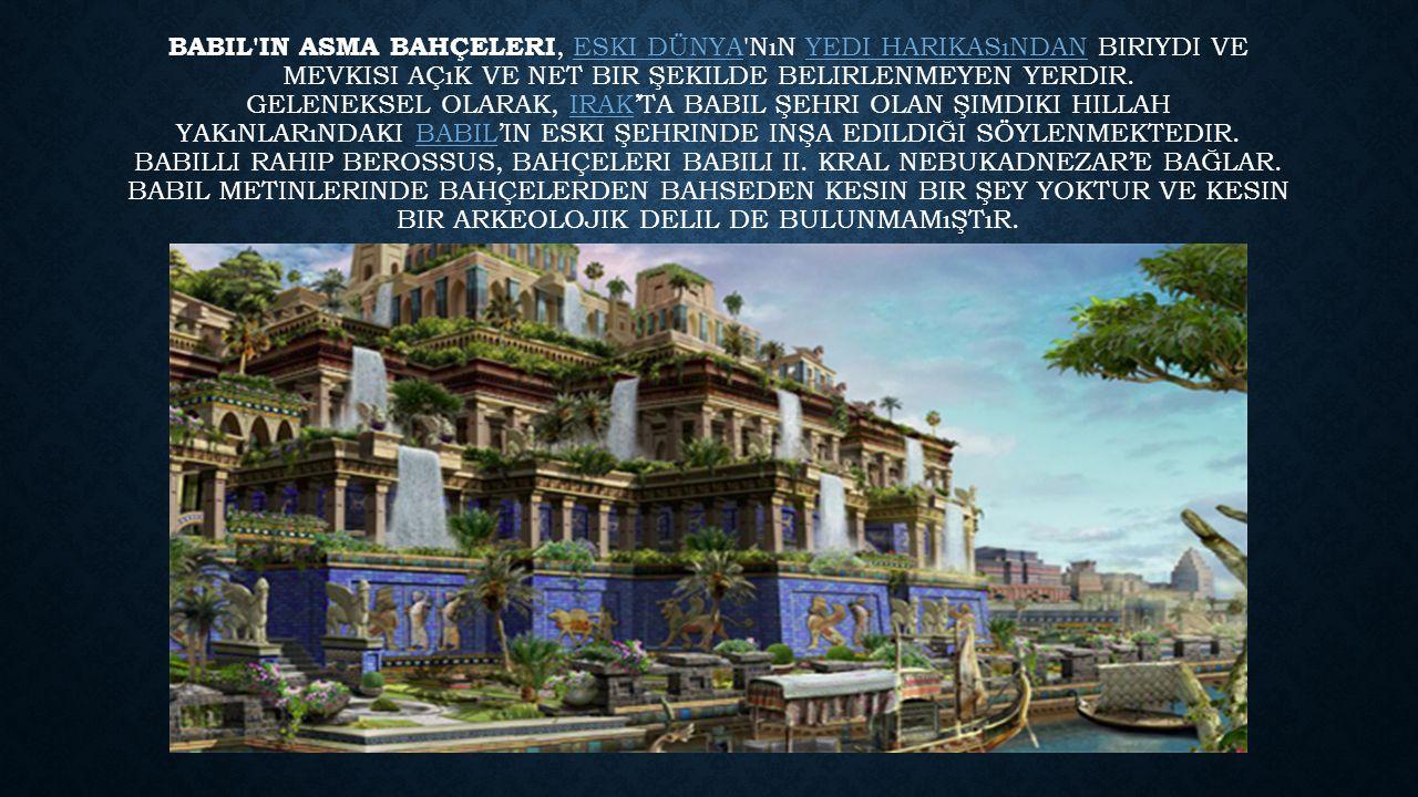 Babil'in Asma Bahçeleri Tarifi