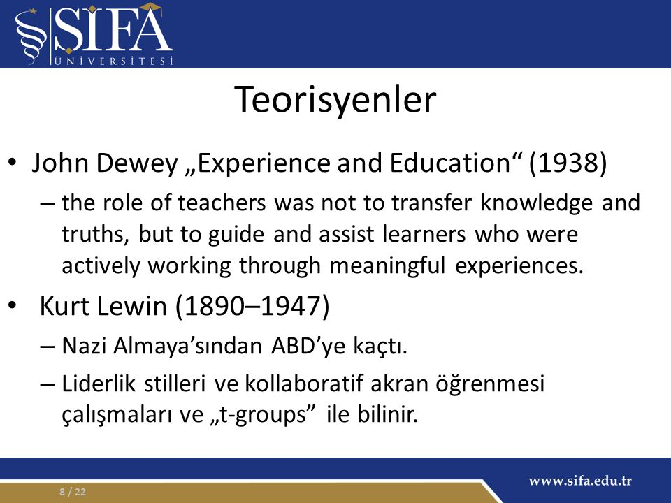 john dewey role of the teacher essay A teacher plays an important role after parents in molding the students students are to be handled with affection and courtesy in case, the parents of any students willing to meet, the teacher must be ready to listen and cooperate with them this implies that one should play the role of a teacher with.