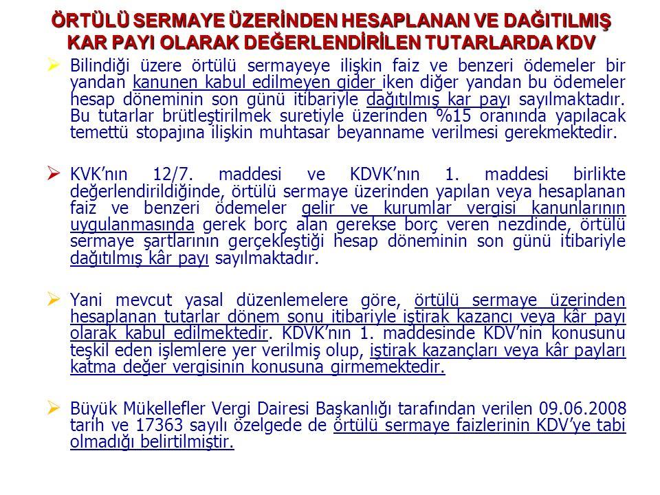 Alınan malzemeler için tedarikçinin hesabı kabul edildi: KDV ile gönderme