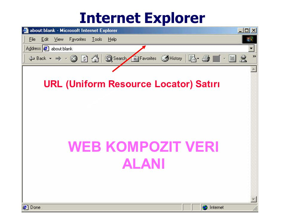 Internet Explorer URL (Uniform Resource Locator) Satırı WEB KOMPOZIT VERI ALANI