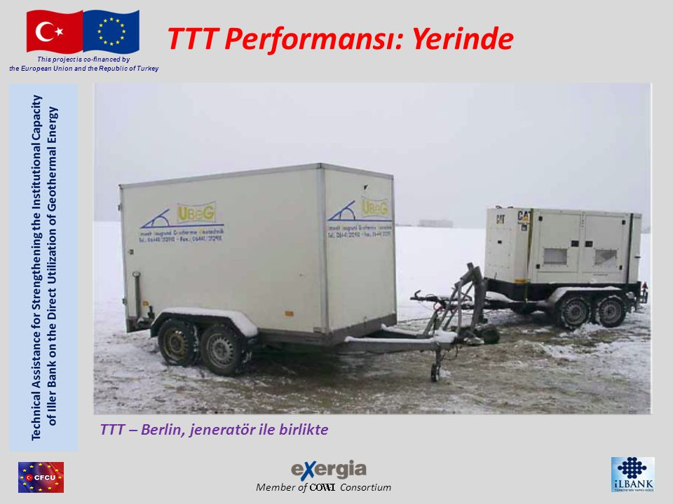 Member of Consortium This project is co-financed by the European Union and the Republic of Turkey TTT Performansı: Yerinde TTT – Berlin, jeneratör ile birlikte