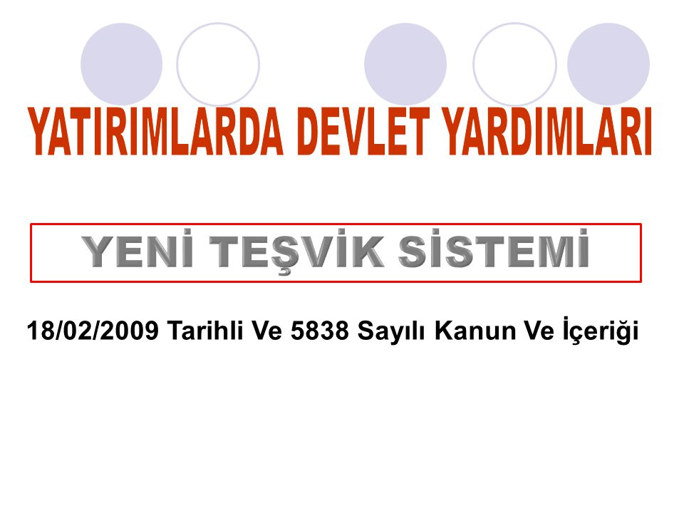 2 18 02 2009 Tarihli Ve 5838 Sayl Kanun Erii