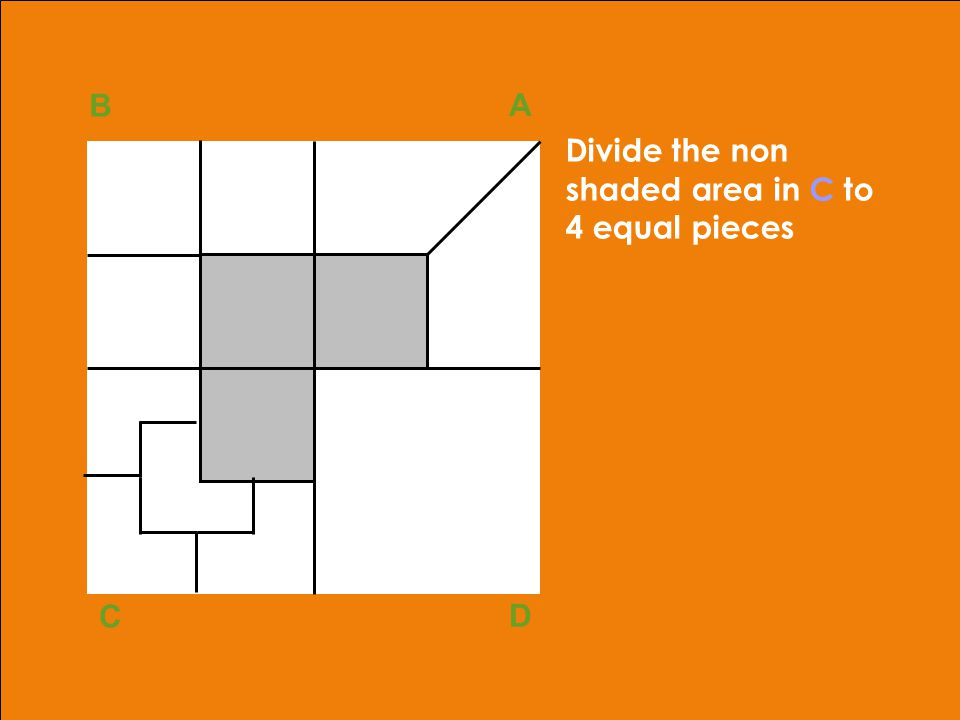adapted from Robbins, OB, 10th ed.Copyright © 2002, Prentice Hall41 B A D C Divide the non shaded area in C to 4 equal pieces